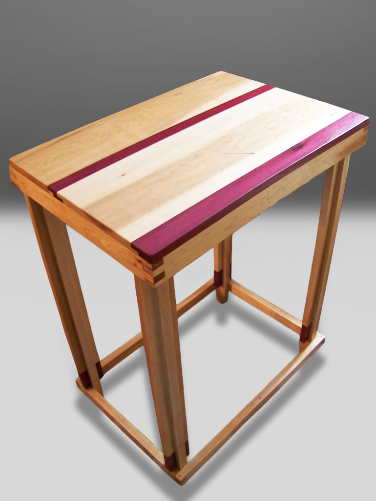 purpleheart woodworking table