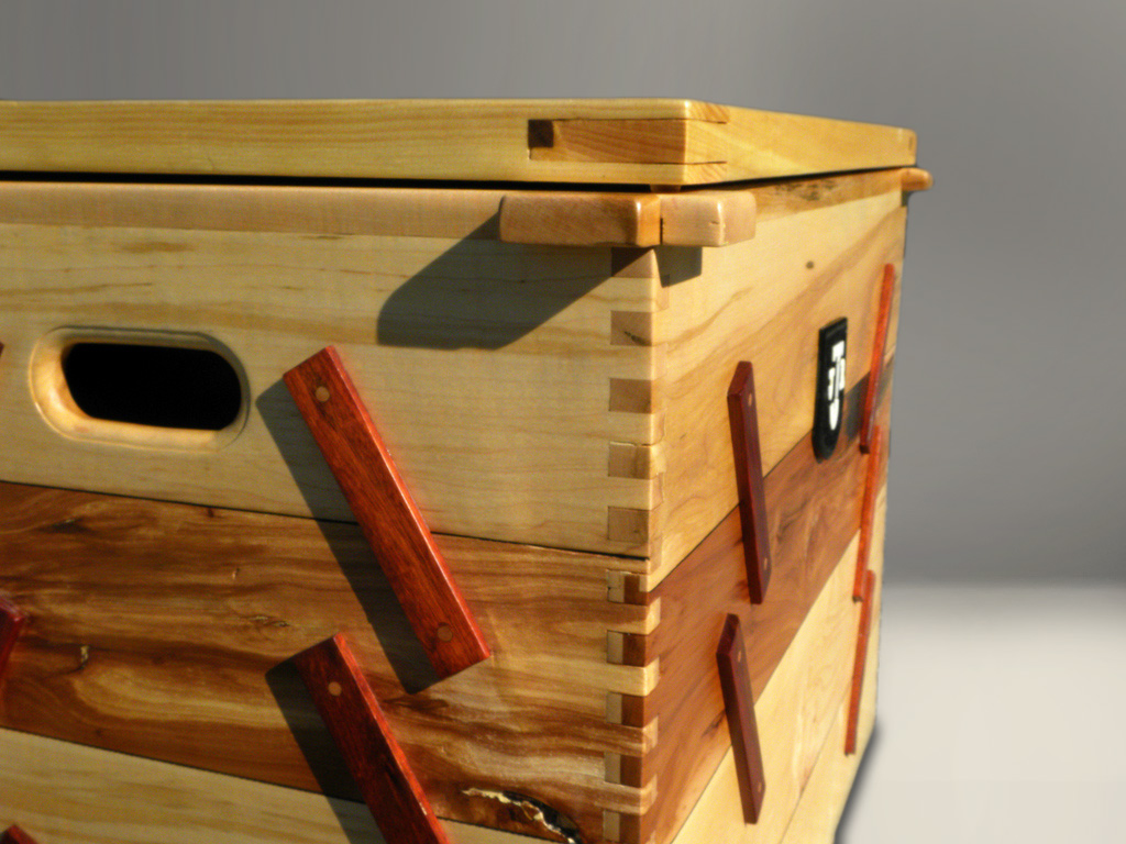 fancy exotic wood chest