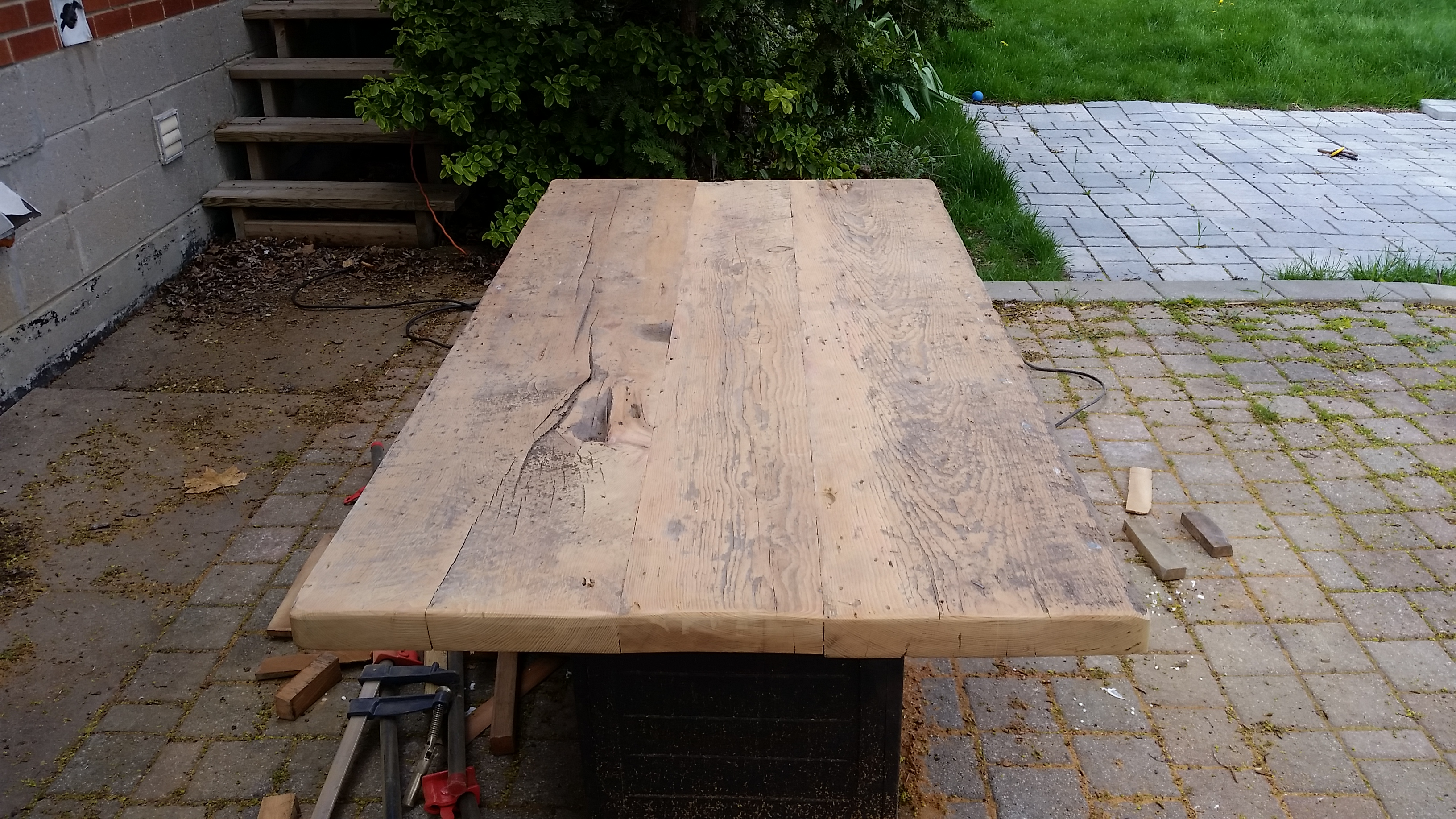 WIP barn board table