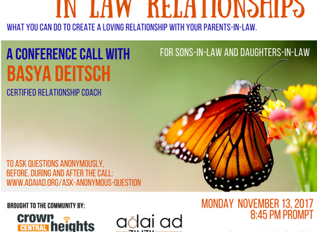 The Gentle Art of In Law Relationships