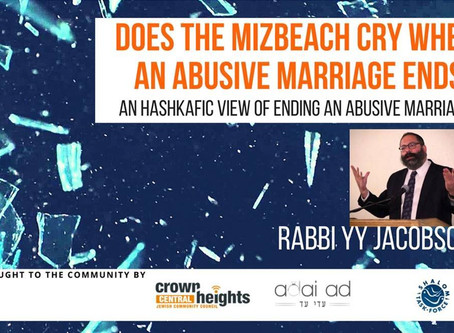 Does the Mizbeach Cry when an Abusive Marriage Ends?