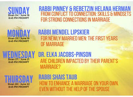 Shalom Bayis Week – June 18-23, 2017