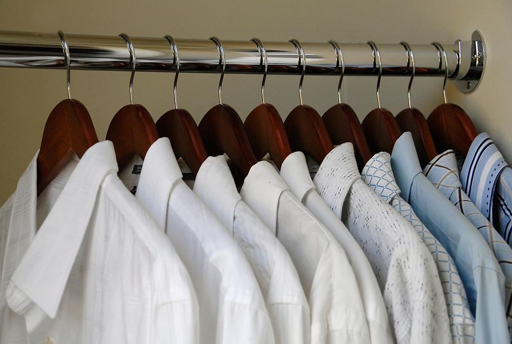Image result for white shirt on hanger mens