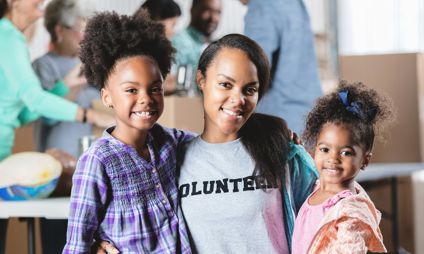 What's better than volunteering and children?