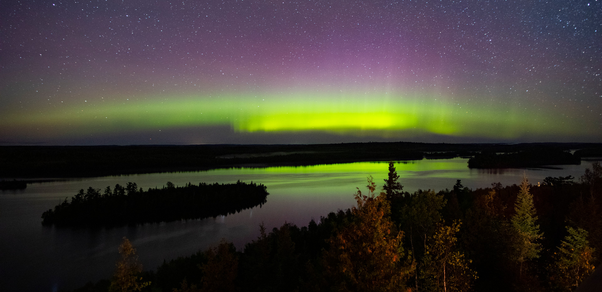 Moose Lake Northern Lights