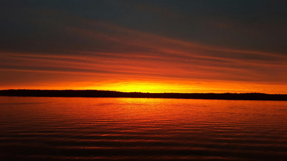 Sunset on Moose Lake in Ely, MN