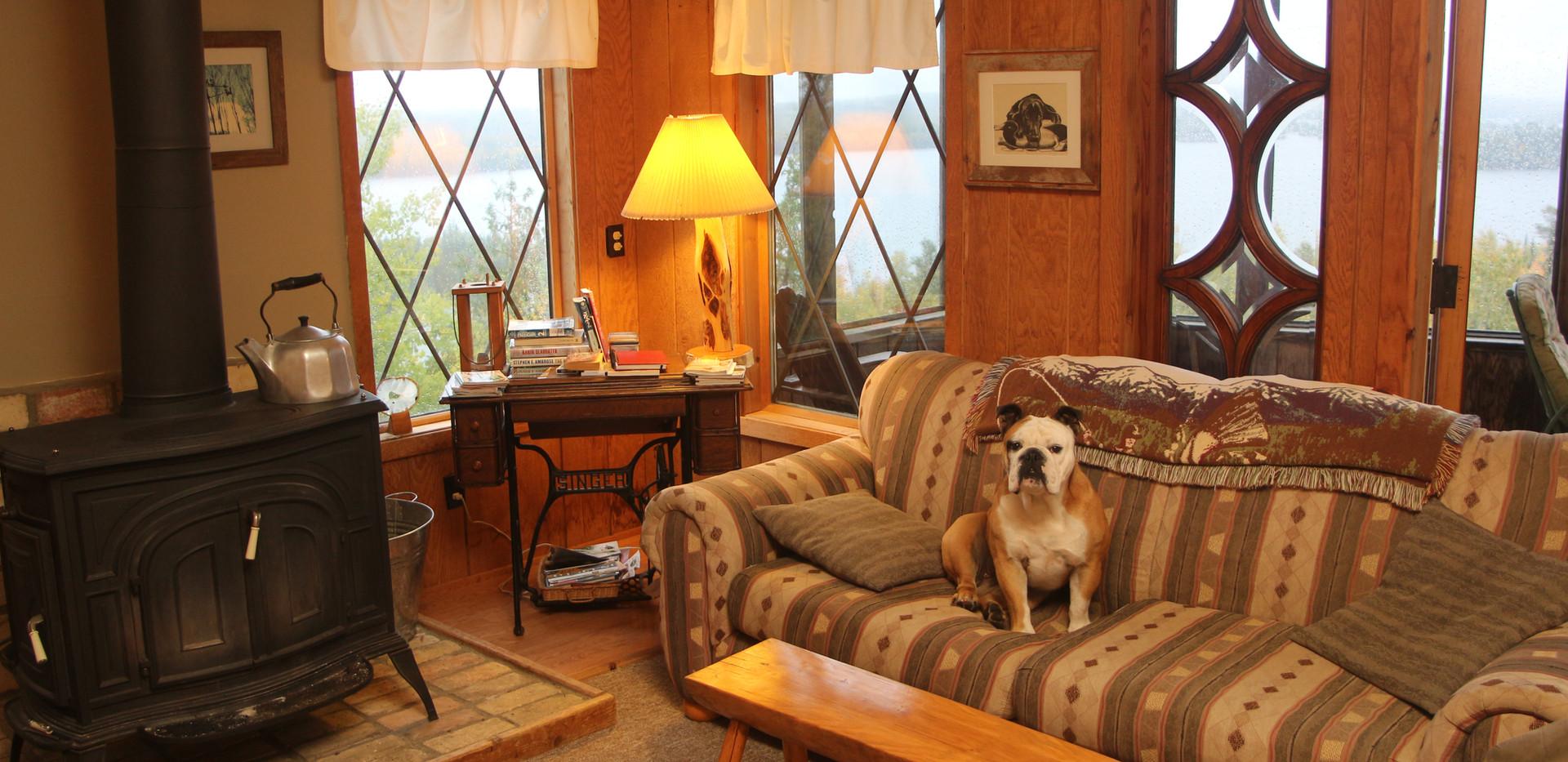 Hilltop living room.
