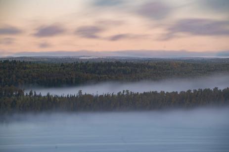 Evening Mist on Moose Lake