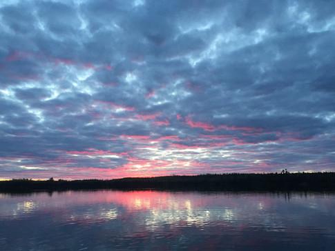 Sunset on Moose Lake
