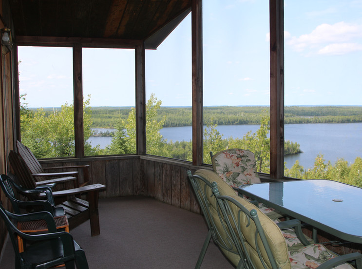 Screened-in Porch with Lake View