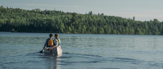 Canoeing on Moose Lake