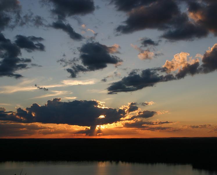 Sunset Over Moose Lake