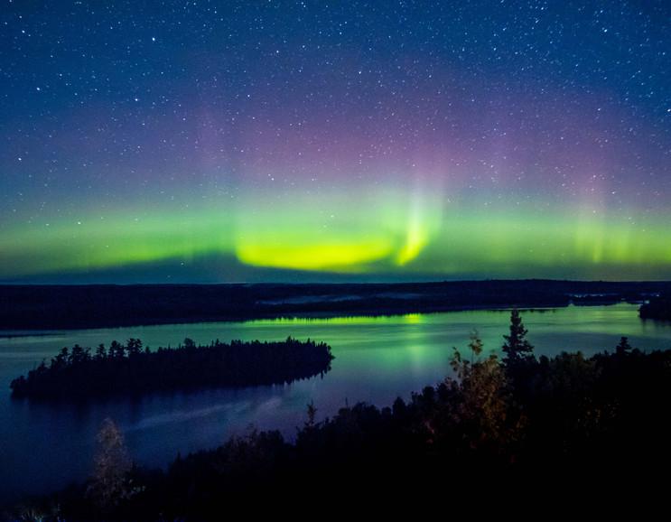 Northern Lights Over Moose Lake