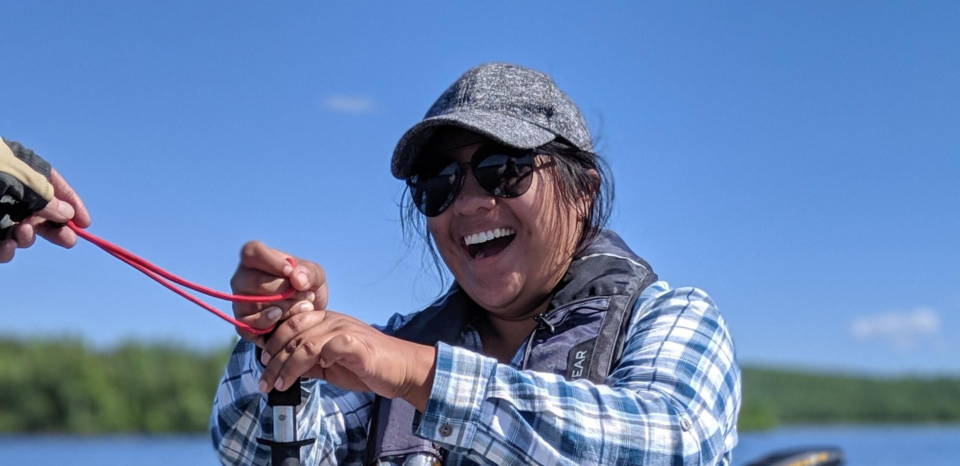 Fishing on Moose Lake