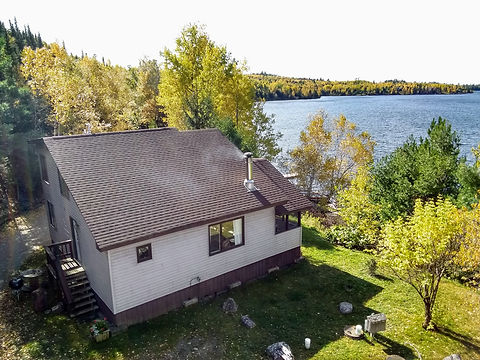 Lake view cabin rentals on the edge of the Boundary Waters Canoe Area Wilderness in Ely, Minnesota.