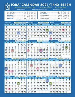 2021 IQRA' Calendar - Front Cover