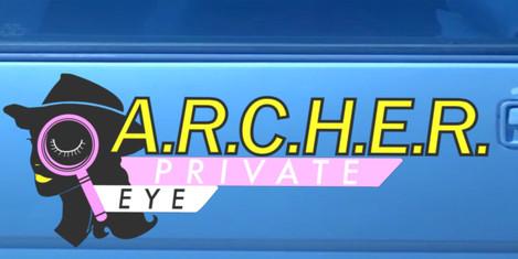 """Private Eye"" car decal"
