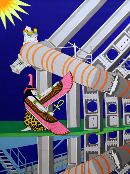 Particle Collider (detail of angel on the left)