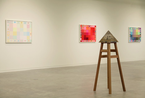 Exhibition view from Imprismed with Untitled (Gold)