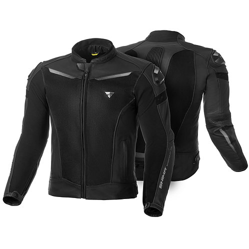 Shima Piston Leather Mesh Jacket
