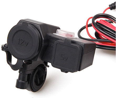 Dual USB Motorcycle Charger