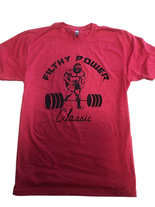 Filthy Power Classic - Red T-Shirt