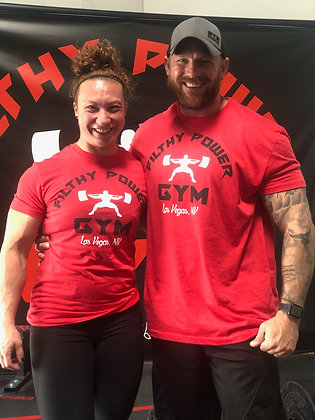 Filthy Red T with Black Logo