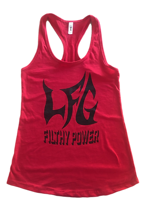 Ladies Racer Back Tank Top - Red