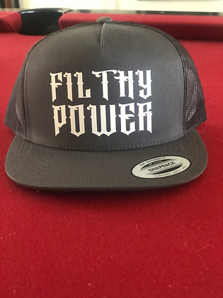 Grey Filthy Snapback Hat
