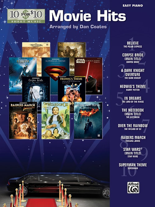10 for 10 Sheet Music: Movie Hits