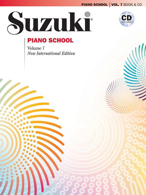 Suzuki Piano School New International Edition Piano Book and CD, Volume 7