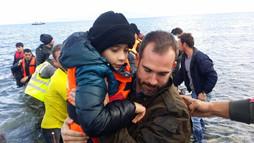 Xand Van Tulleken helping refugees, Lesbos