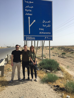 The road to Za'atari Refugee Camp