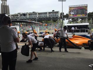 With McLaren F1, Azerbaijan GP