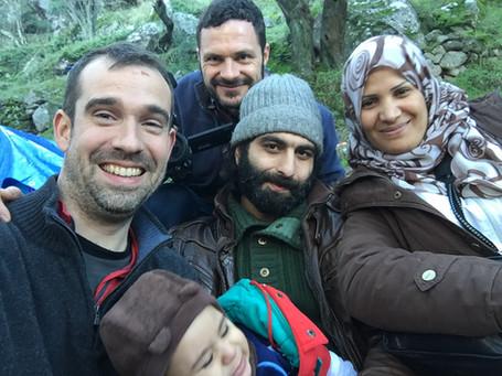 A joyful reunification, Lesbos