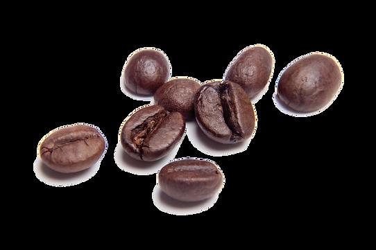 Imagem de alguns grãos de café arábica torrados
