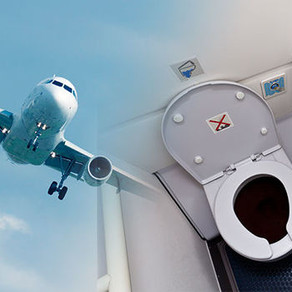 Is it possible that feces and other liquids from aircraft end up on the top of your head?