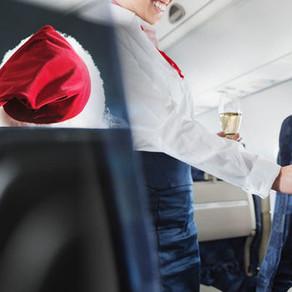 Vesele proslave Božića u zrakoplovu