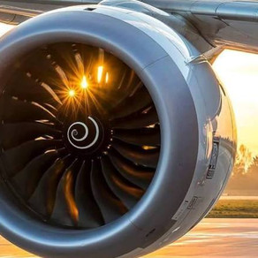 Did you ever notice spiral designs painted inside an aircraft engine?