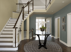 Interior Paint: Entry way with stair