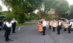 New Hartford Parade warm-up