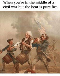 Civil war marchers