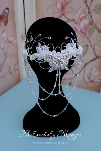 Hair piece for half up half down hair style