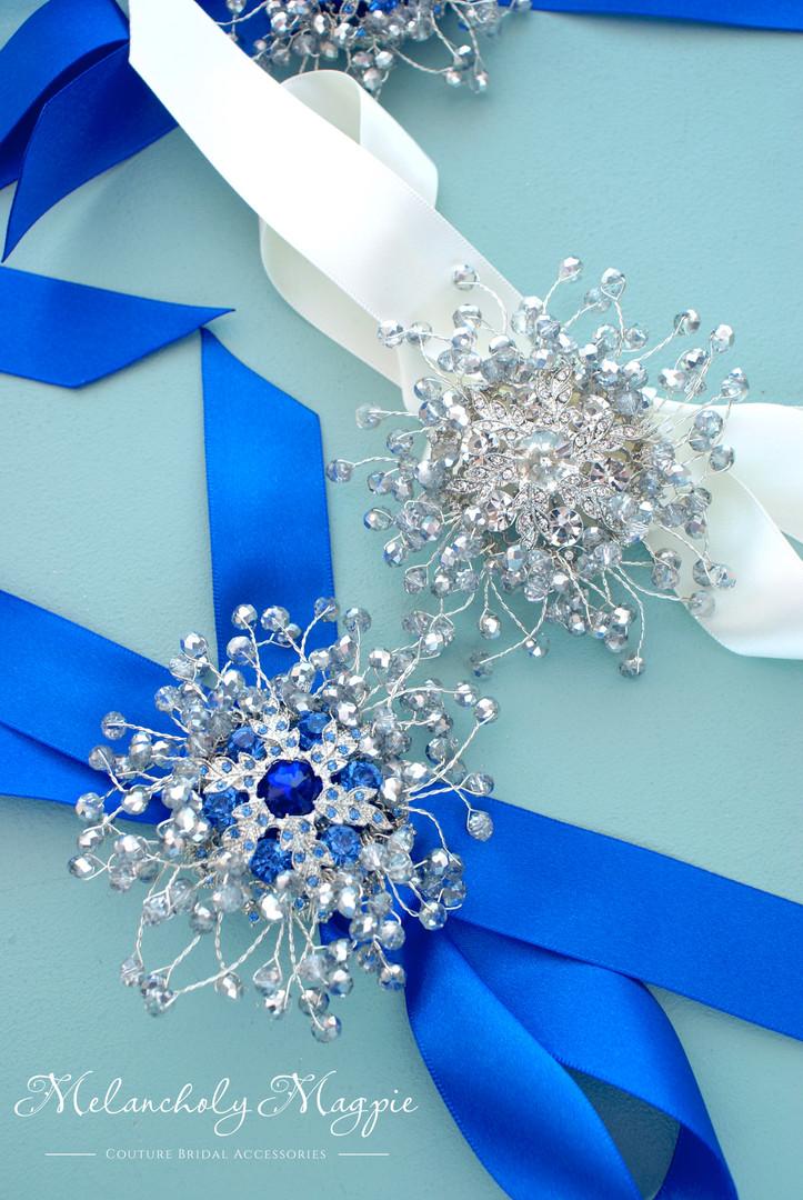 Bride and bridesmaids wrist corsage