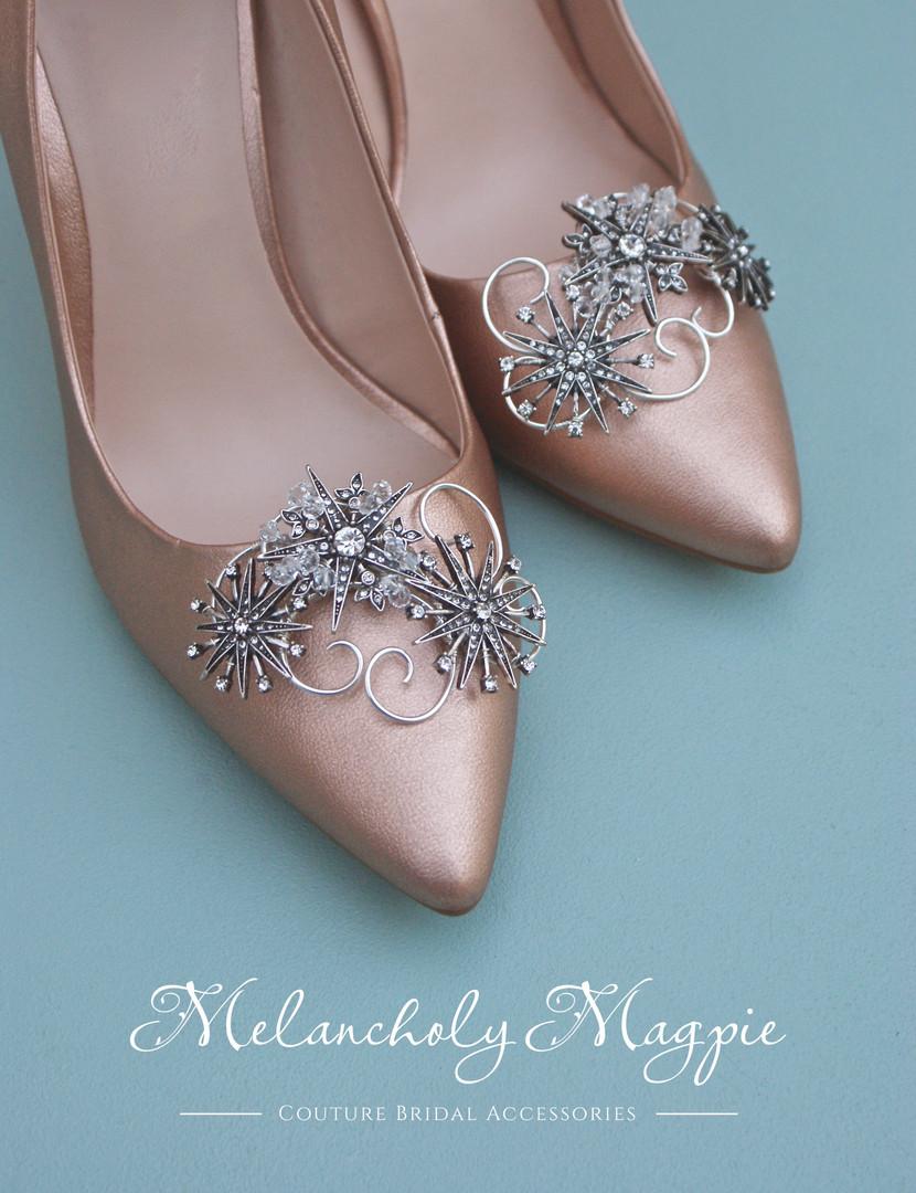 Bespoke star themed shoe clips