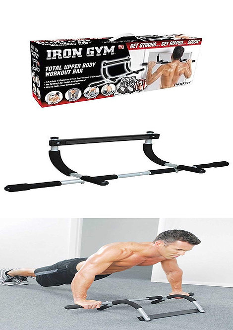 Iron Gym Door Bar with Multiple Functions