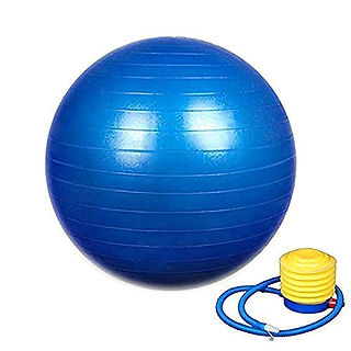 GYM BALL 55 CM  WITH PUMP COLOR MAY VARY
