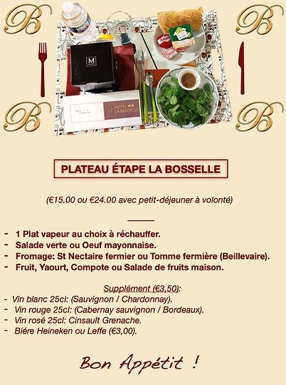 Plateau repas La Bosselle