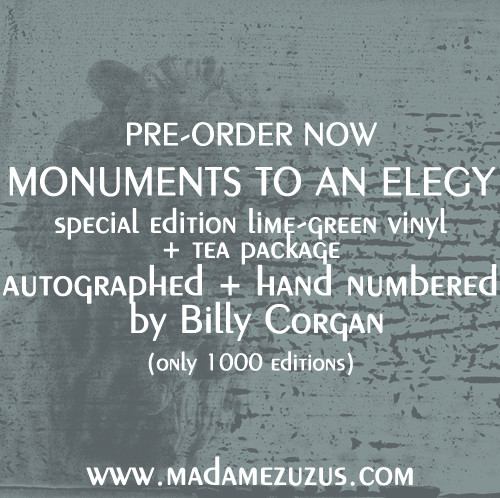 MONUMENTS TO AN ELEGY SPECIAL EDITION AUTOGRAPHED LIME GREEN VINYL + ZUZU'S TEA PACKAGE AVAILABLE NO