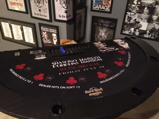 Memorabilia Monday: The End Time Tour Black Jack Table Top